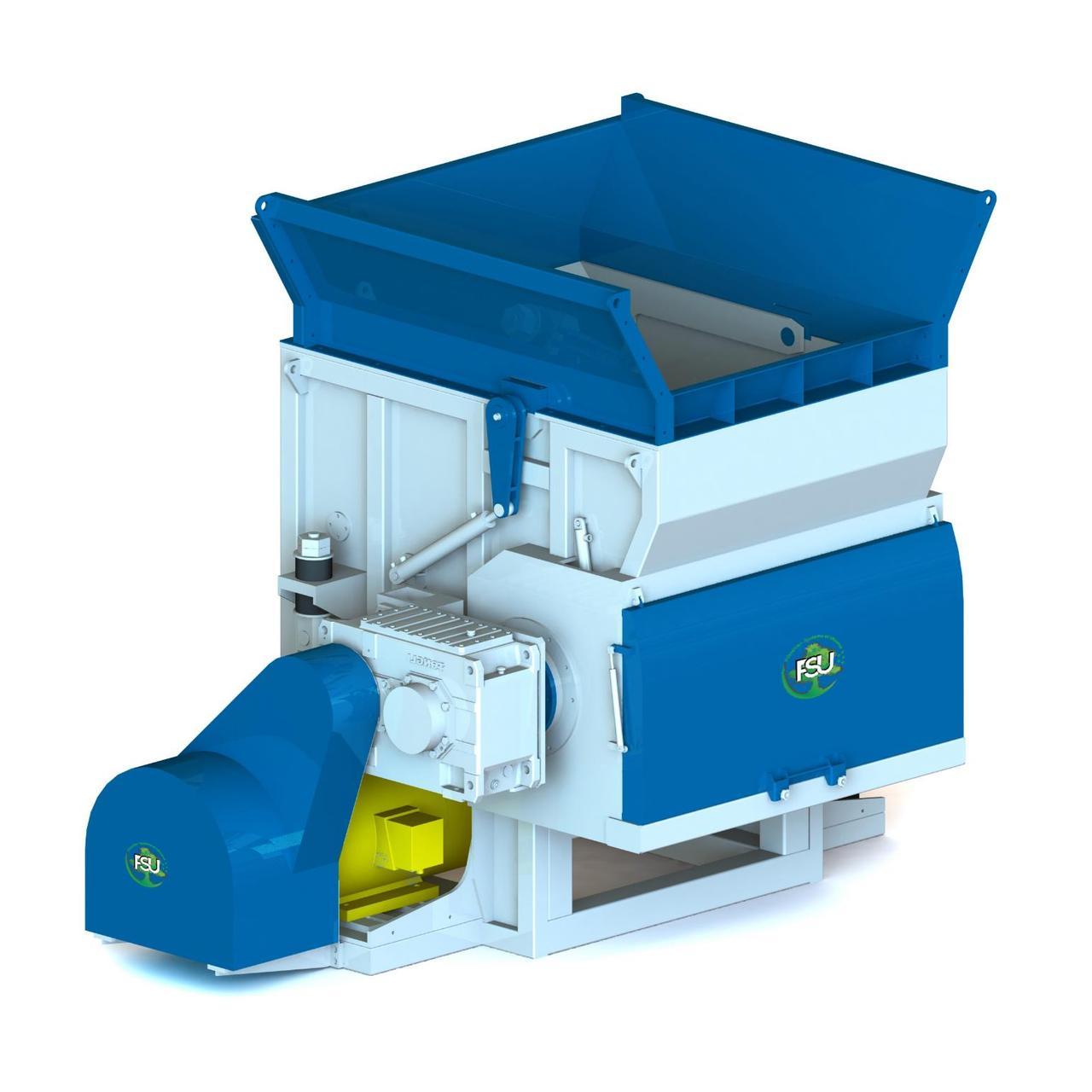 Подрібнювач (шредер) для знищення гумових виробів типу FSU