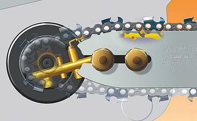 Смазка цепи электропилы