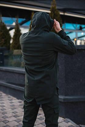 Мужская куртка Softshell хаки демисезонная Intruder. + Брендовая Ключница в подарок, фото 2