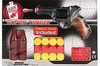 Іграшковий пістолет на пульках Edison Gіocattolі Supertarget 19см 6-зарядний з мішенями (480/21)