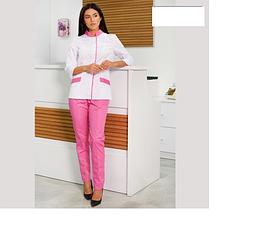 Костюм медичний Avrora рожевого кольору, розмір 46 - 56