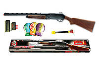 Игрушечное ружьё на пульках Edison Giocattoli Mike Peterson 87см 12-зарядное с мишенью (427/24)