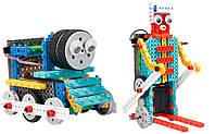 Конструктор STEM з пультом HIQ R722 4-в-1 (паровозик, машинка, лижник, робот)