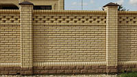 Строительство кирпичных заборов, забор из кирпича