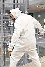 Худи Мужское зимние Intruder белое Oversize на флисе Размеры : S-M, L-XL; XXL-XXXL, фото 3