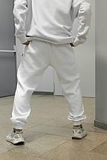 Штаны зимние мужские на флисе Intruder белые спортивные теплые мужские брюки, фото 2