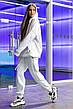 Худи Женское теплое зимнее демисезонное Intruder Brand белое на флисе кофта толстовка Oversize, фото 4