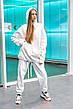 Худи Женское теплое зимнее демисезонное Intruder Brand белое на флисе кофта толстовка Oversize, фото 5