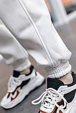 Штаны женские теплые на флисе зимние спортивные белые Intruder Oversize S/M, фото 2