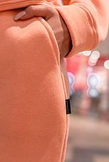 Штаны женские джогеры теплые на флисе зимние спортивные Basic Intruder розовые Oversize S/M, фото 2