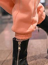 Штаны женские джогеры теплые на флисе зимние спортивные Basic Intruder розовые Oversize S/M, фото 3