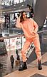 Штаны женские джогеры теплые на флисе зимние спортивные Basic Intruder розовые Oversize S/M, фото 4