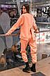 Штаны женские джогеры теплые на флисе зимние спортивные Basic Intruder розовые Oversize S/M, фото 5
