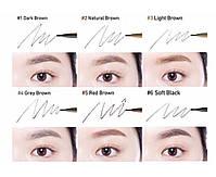 Автоматический тонкий карандаш для бровей Etude House Drawing Slim Eyebrow  #1 Dark Brown, фото 2
