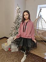 Детский стильный костюм тройка для девочек подростков 140-164 р