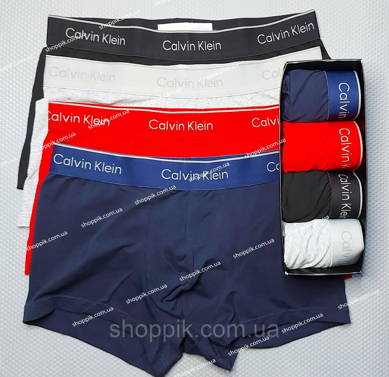Комплект мужских трусов боксеров Calvin Klein трусы боксеры 4 штуки