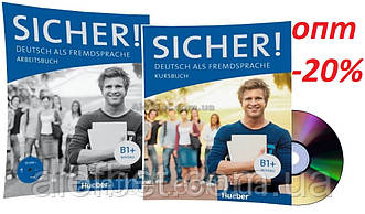 Немецкий язык / Sicher / Kursbuch+Arbeitsbuch+CD. Учебник+Тетрадь (комплект с диском), B1+ / Hueber