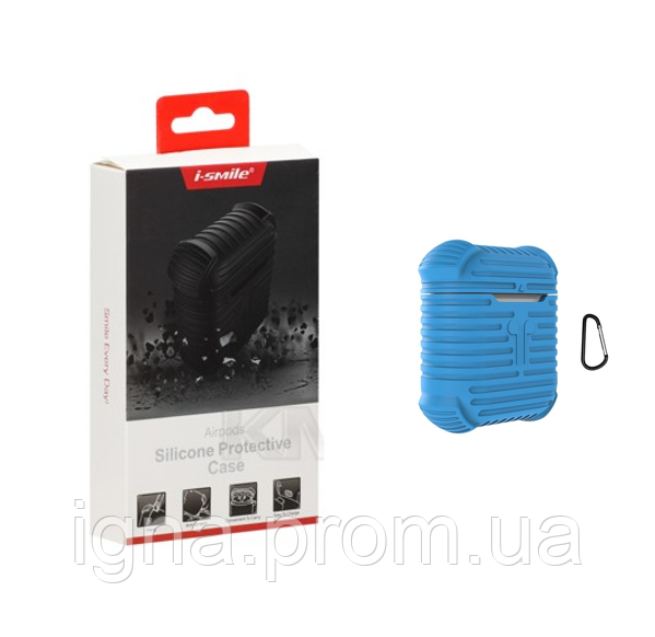 I-Smile Silicone Protective Airpods Case(Blue)