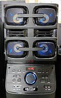 Портативная акустика с микрофоном ERA E-12 /180W (USB/Bluetooth/Пульт ДУ/FM)