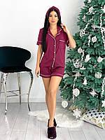 Пижама женская с повязкой в расцветках 80896, фото 1