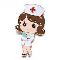 Брошка «Медсестра з зошитом».