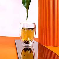 Набір (2шт) склянок з подвійними стінками | 350мл | гуртки з подвійними стінок