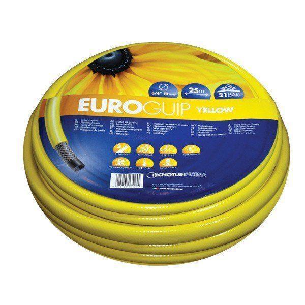 Шланг садовый Tecnotubi Euro Guip Yellow для полива диаметр 3/4 дюйма, длина 50 м (EGY 3/4 50)