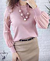 Жіноча блуза кофтинка, з довгим рукавом S-L універсал ЧОРНА