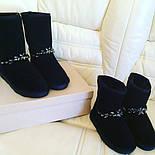 Женские стильные угги с дорогими камнями, фото 6
