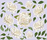 Набір вінілових наклейок «Білі троянди», фото 2