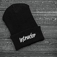 Мужская | Женская шапка Intruder черная, зимняя big logo
