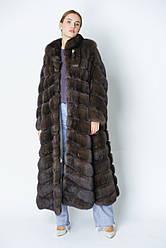 Шуба из соболя  баргузинского длина  135 см