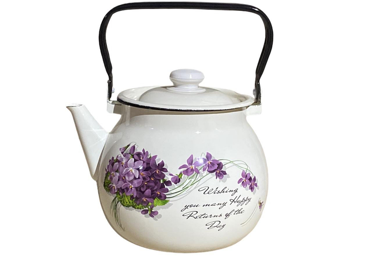 Чайник эмалированный 3,5л Виола 27130/2 Idilia