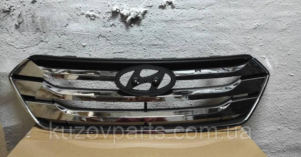 Решетка радиатора Hyundai Santa Fe 2013-...