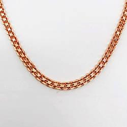 """Цепочка """"Бисмарк"""" SONATA из медицинского золота, позолота 18К, 31410             (55 см)"""