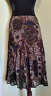 Легкая юбка из сеточки в цветы в оливково-болотных тонах Solar