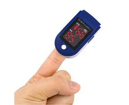 Пульсоксиметр на палец LK-87, цвет сине-белый