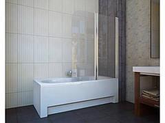 Шторка на ванну QP95(right) двух элемент 1150х1400 chrome, grape
