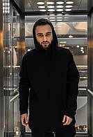 Худи Мужское зимние Intruder черное Oversize на флисе спортивная кофта теплая, фото 1