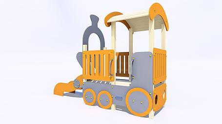 Дитяче ігрове обладнання «Паровозик з гіркою», фото 2