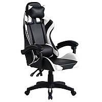 Кресло компьютерное игровое или для офиса Gamer Pro Jaguar белое