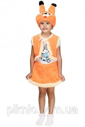 Костюм Белочка для девочки 3,4,5,6 лет. Детский новогодний карнавальный костюм Белка 342, фото 2