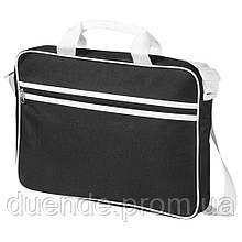 Сумка Knoxville для ноутбука с регулируемым ремешком на плечо и двумя ручками, опт - розница / su 119910 Черный