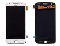 Дисплей для Motorola Moto Z Play XT1635 с сенсорным стеклом (Белый) Оригинал Китай