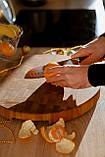 Доска разделочная 30х50х5 см торцевая из дуба премиум бренда  Casa Verdi, фото 7