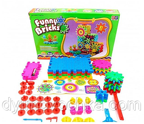 Дитячий розвиваючий конструктор Funny Bricks на 81 деталь