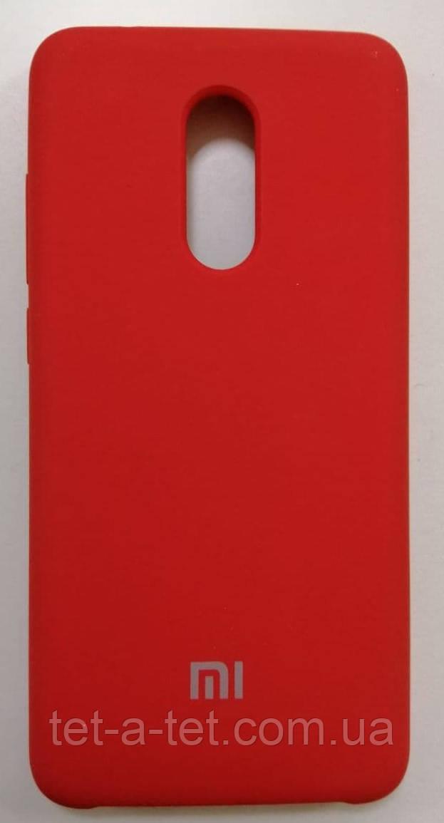Силиконовый чехол-накладка Color Silk для Xiaomi Redmi 5 Red