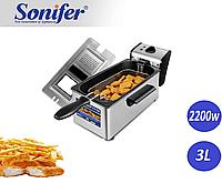 Фритюрниця Електрична Sonifer Deep Fryer SF - 1003.Апарат для смаження у фритюрі., фото 1