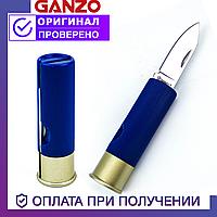 Туристический складной нож Ganzo со стальным лезвием Ганзо G624M-BL (синий)