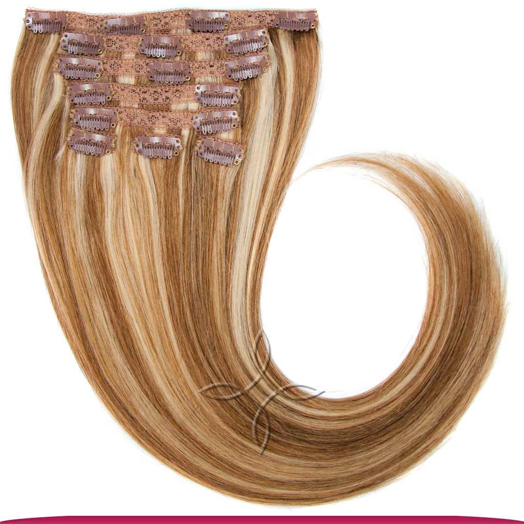 Натуральные Европейские Волосы на Заколках 50 см 100 грамм, Мелированные №12/613